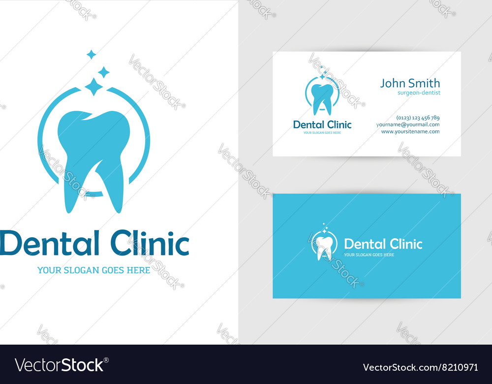 Dental clinic logo with tooth
