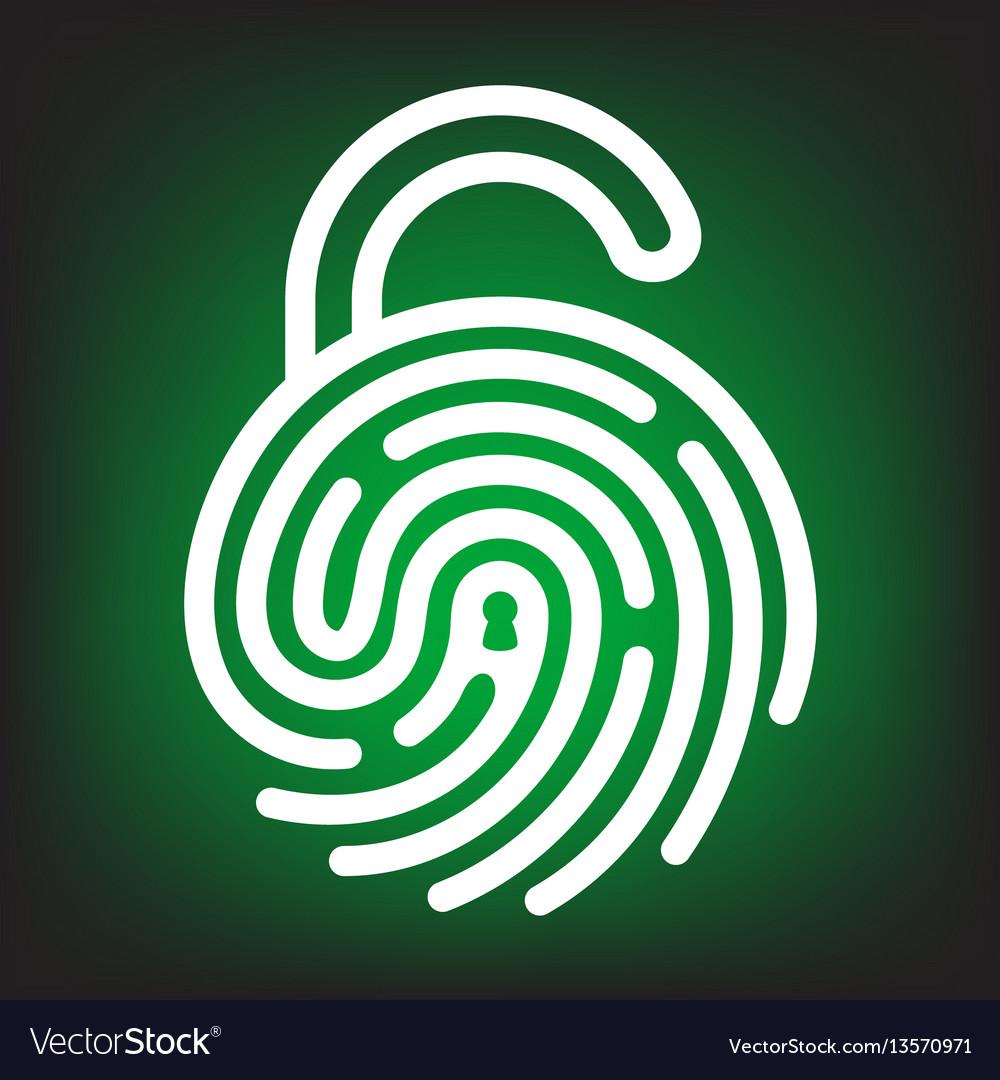 Fingerprint with lock shape