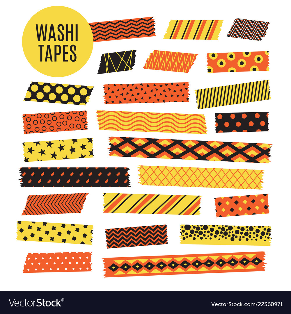 Halloween tape strips orange and black halloween