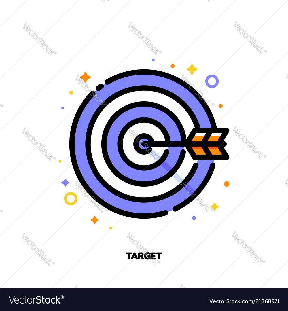 5c409f9f600 Icon of arrow in center of board for business Vector Image