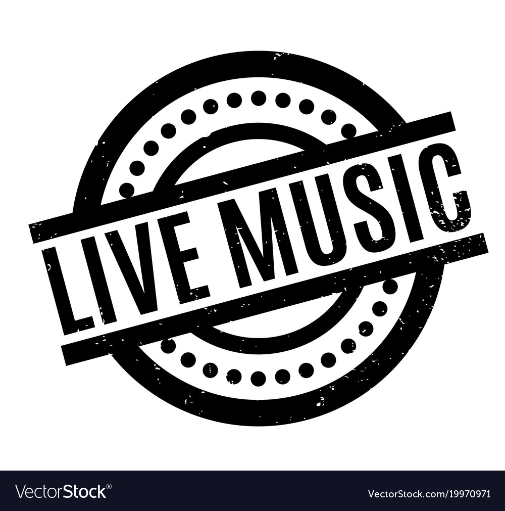 Live Music Rubber Stamp Royalty Free Vector Image