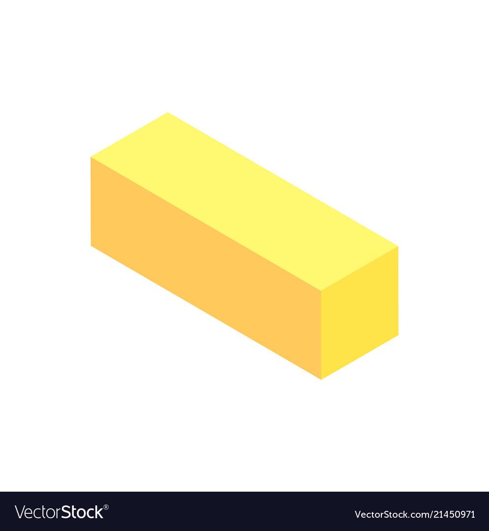Vertical geometric figure template yellow cuboid