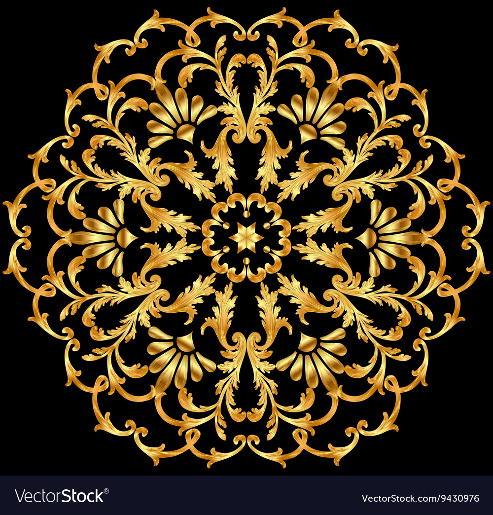 Background with a circular gold ornaments