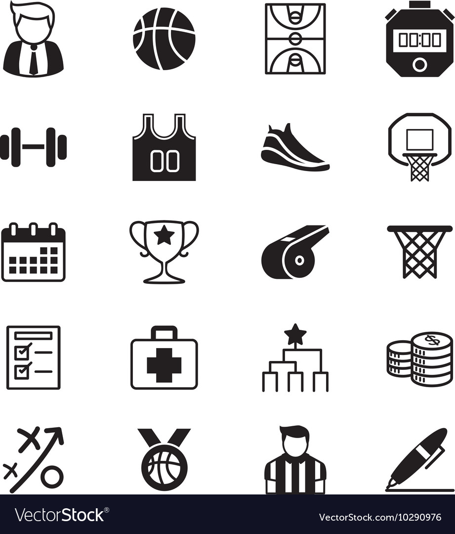 Basketball icons set