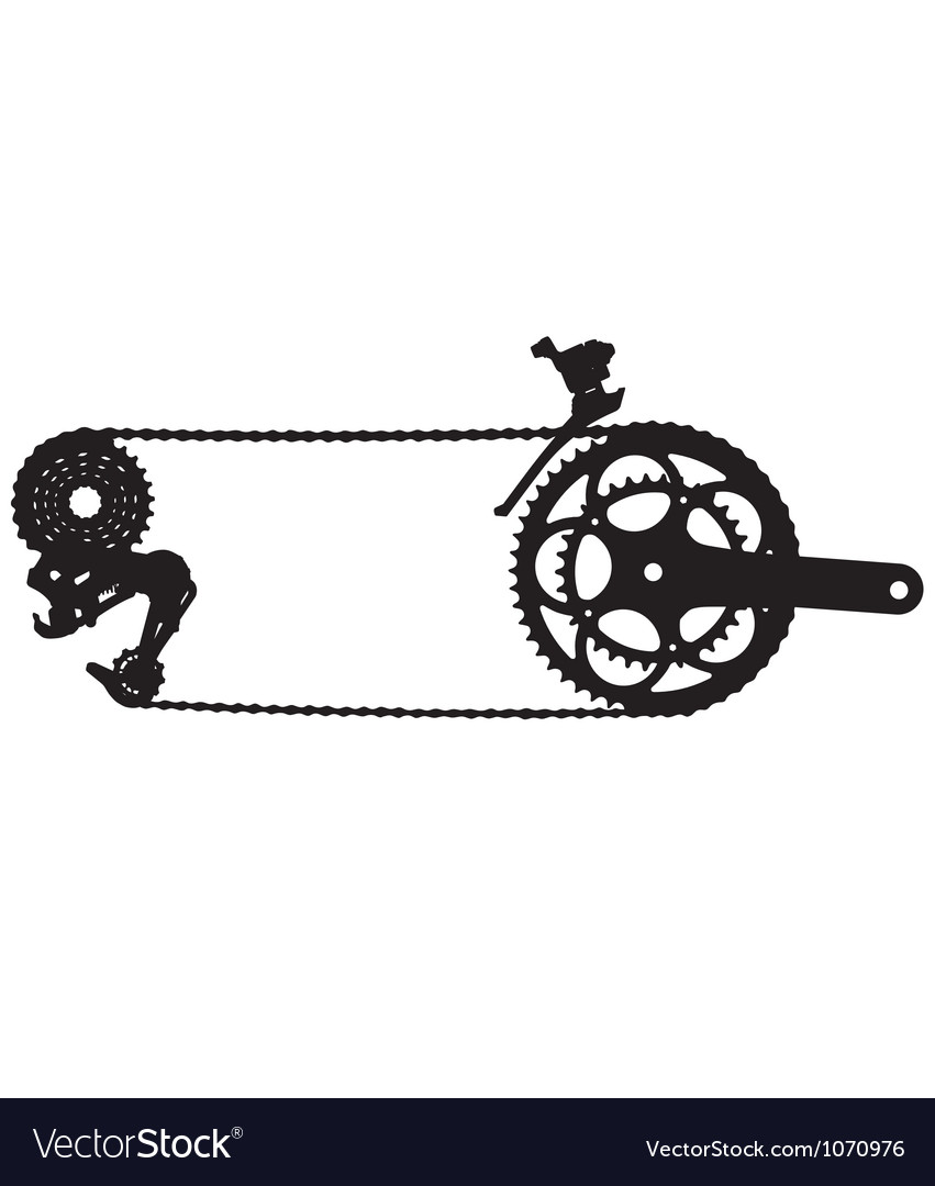 Bicycle drive chain silhouette