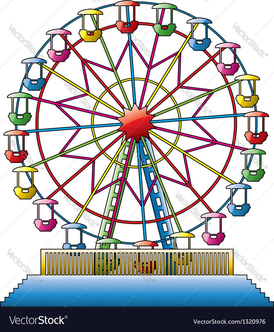 Ferris Wheel Royalty Free Vector Image Vectorstock