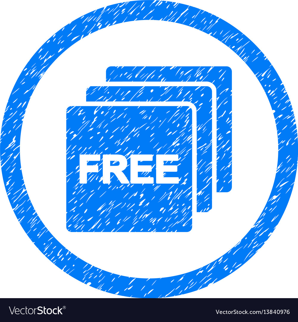Free rounded grainy icon vector image