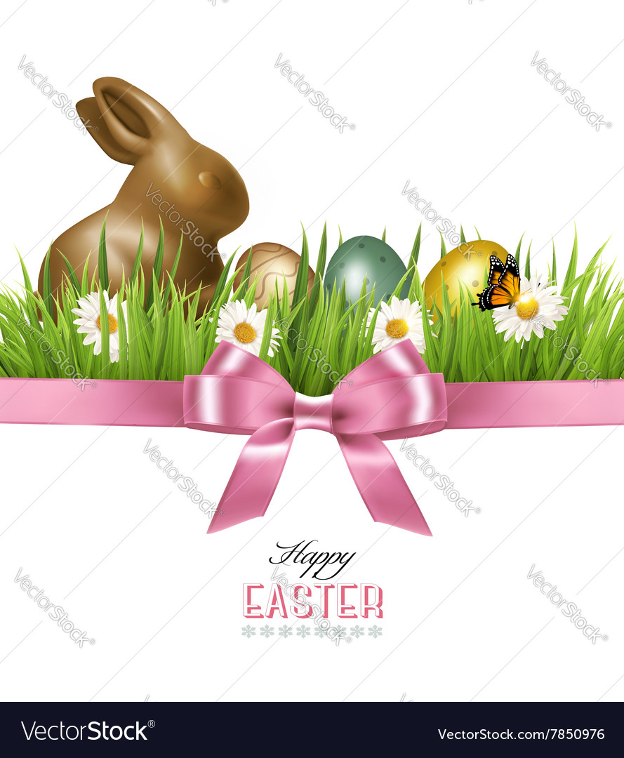 Happy Easter background Colorful Easter eggs and