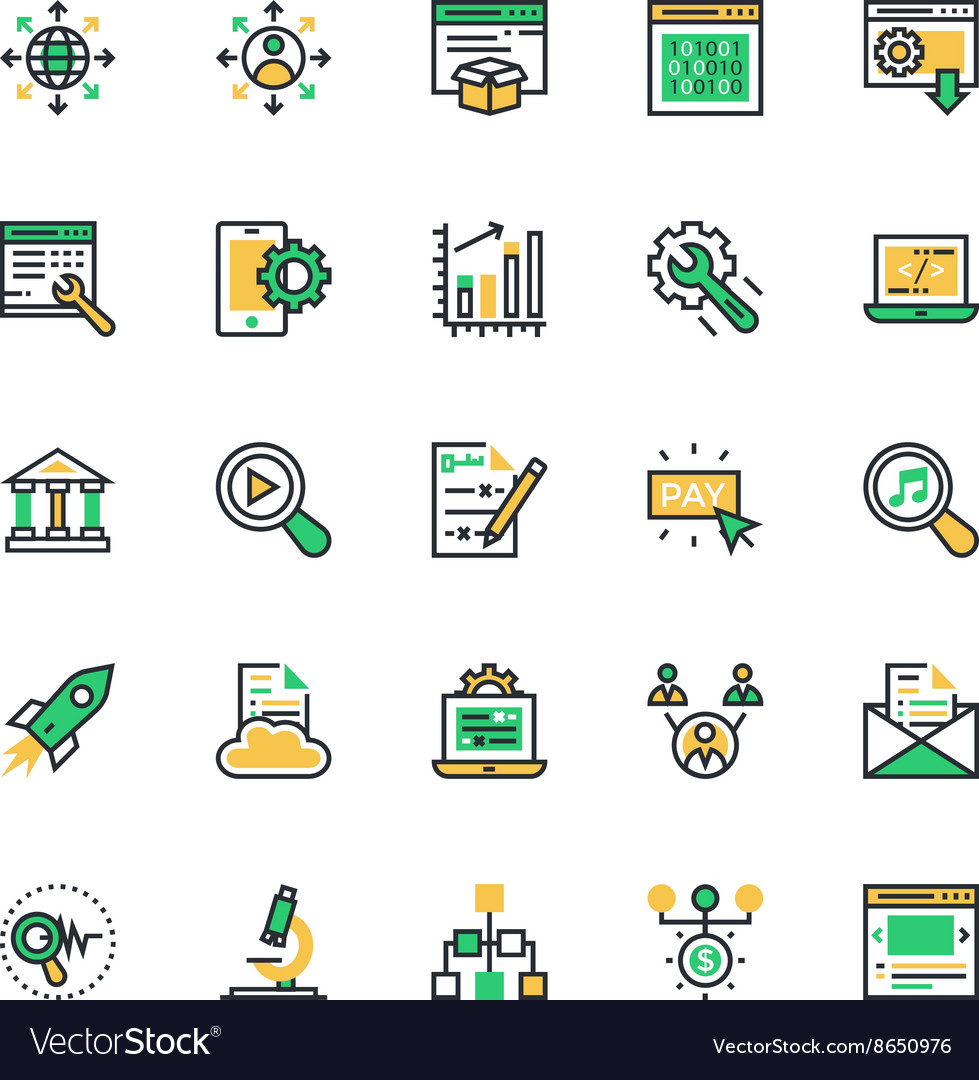 SEO and Marketing Colored Icons 5