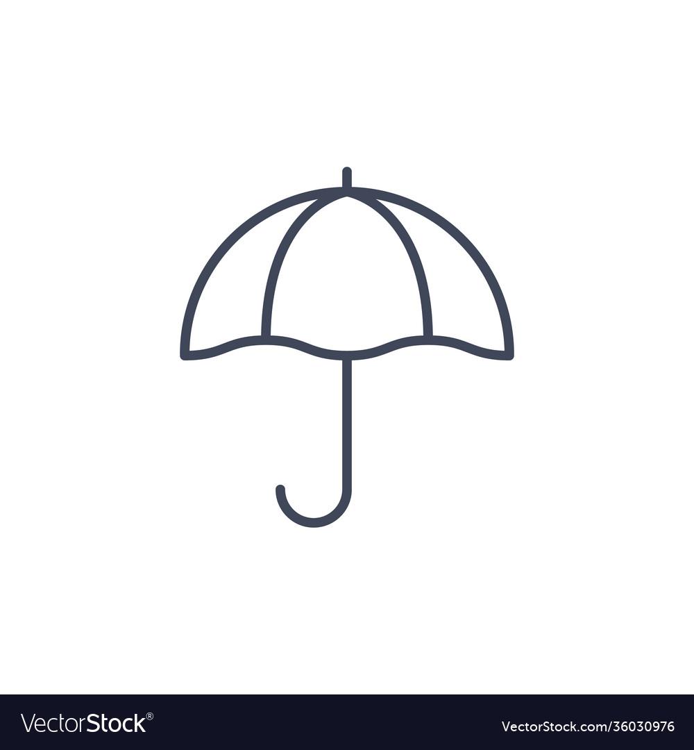 Umbrella line parasol icon sun beach