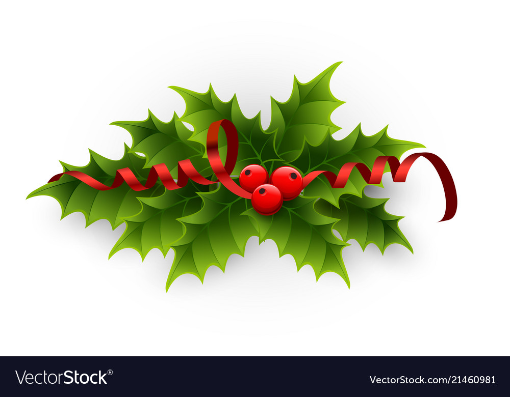 A holly berries and tinsel on a