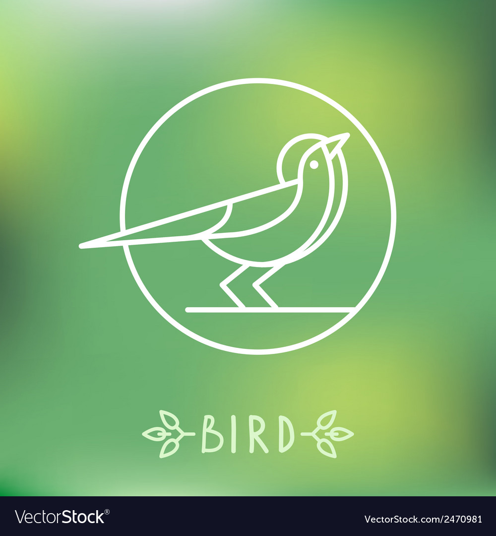 Bird icon in outline style
