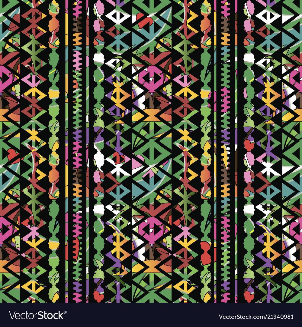 Colorful bright geometric seamless pattern