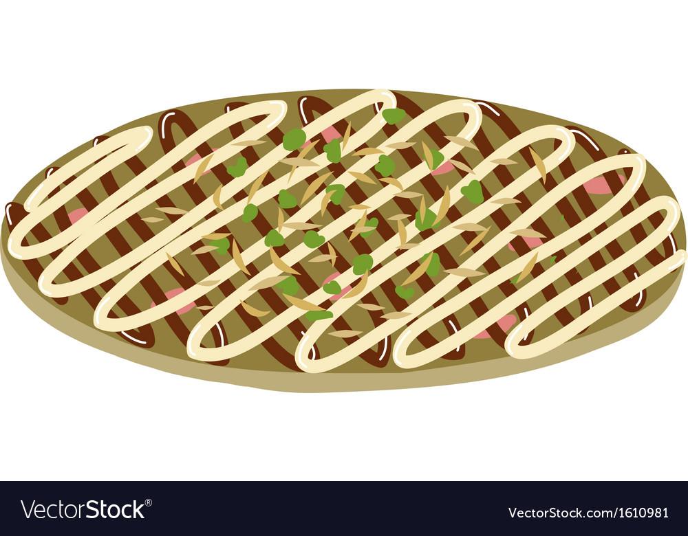 Japanese pizza - Okonomiyaki