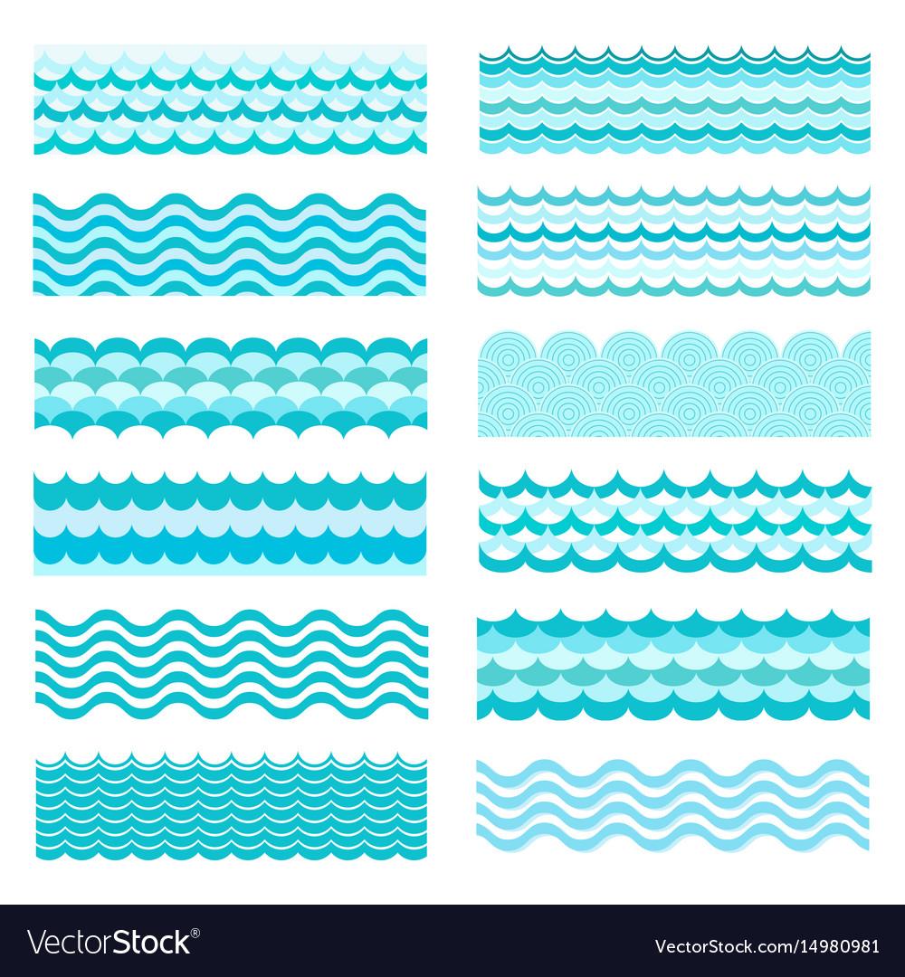 Marine waves sea wavy ocean art water design
