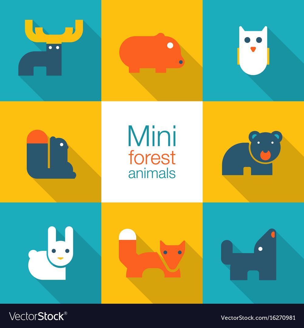 Minimal forest animals