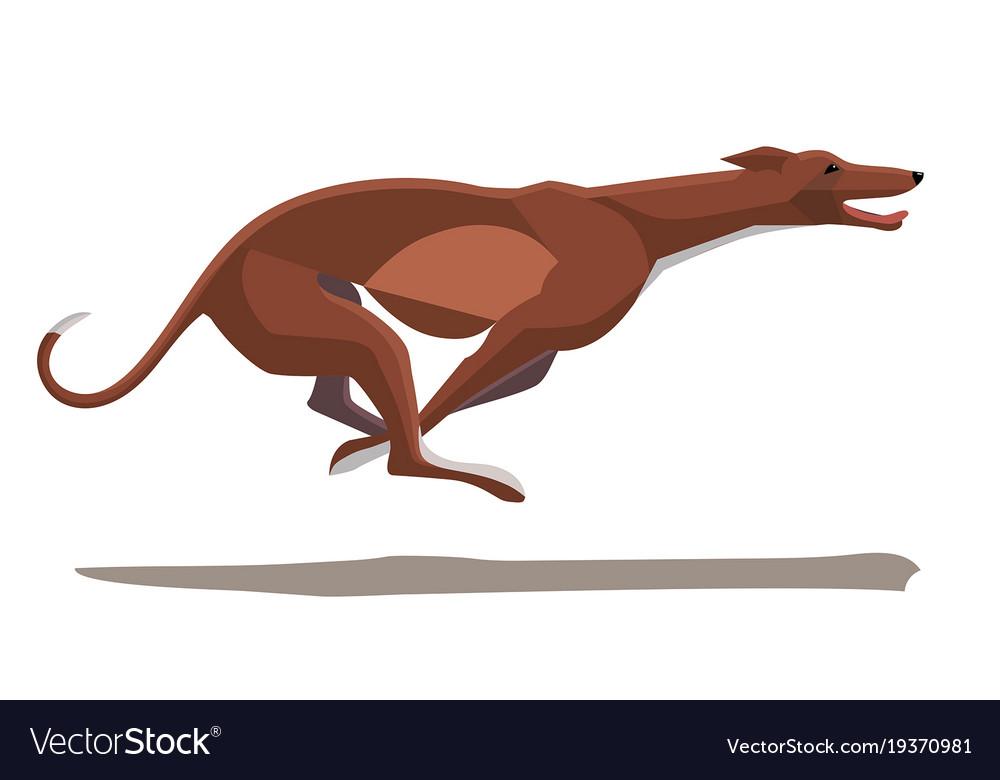 Minimalist image of a running greyhound
