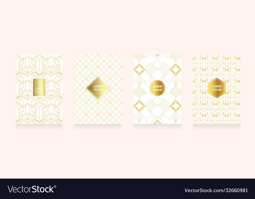 Modern gold in art geometry style texture style