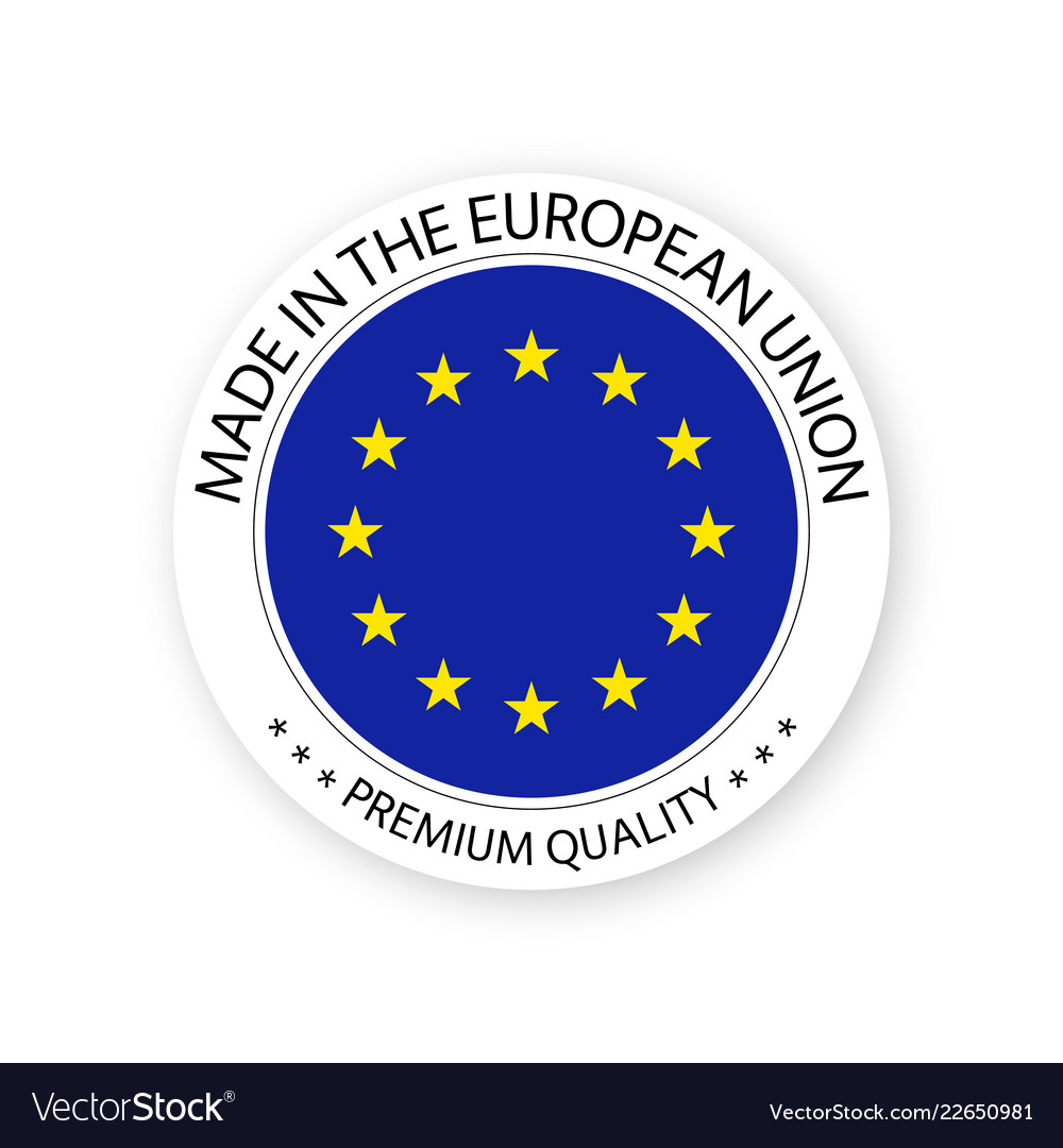 Modern made in the european union label