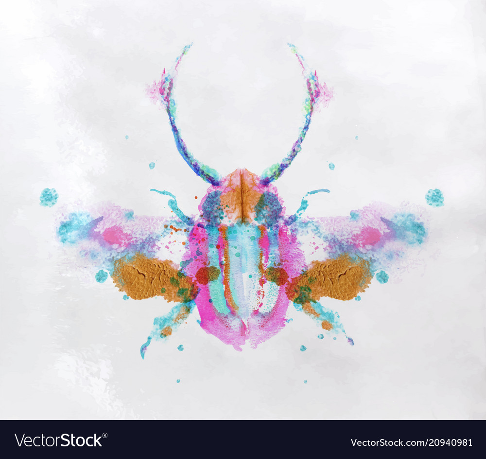 Monotype vivid beetle vector