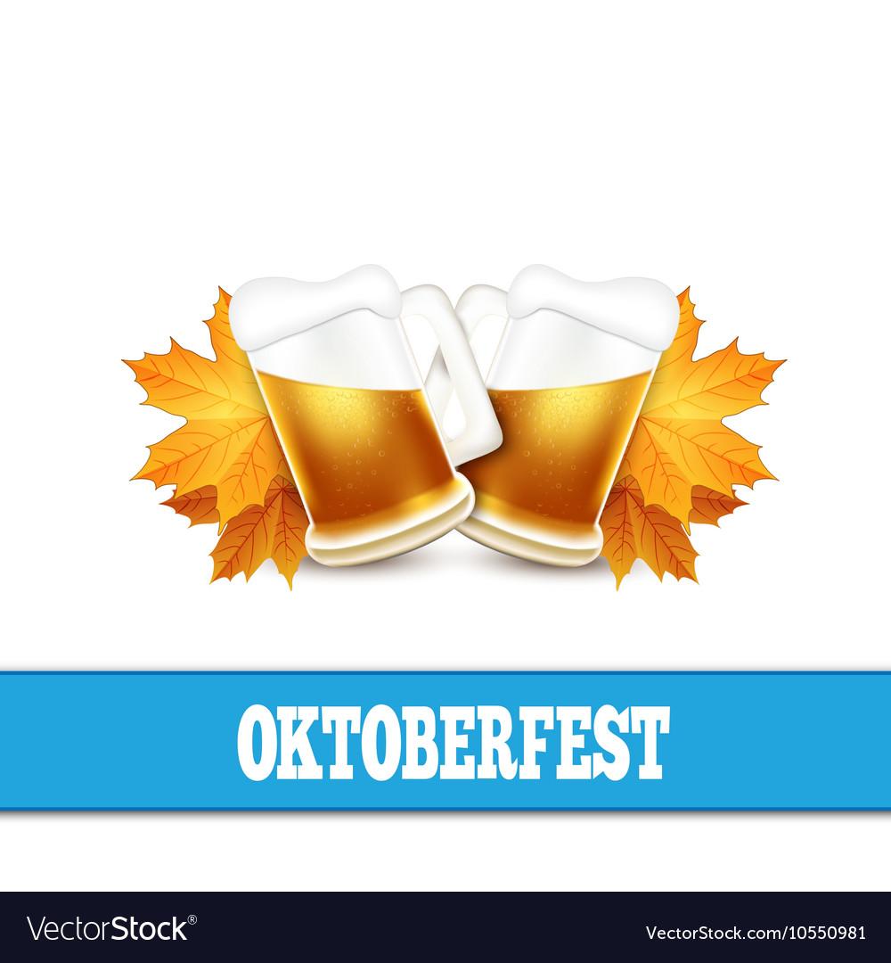 Oktoberfest Two beer mugs on