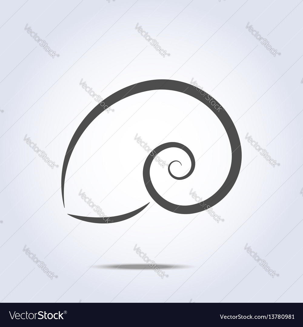 Sea shell icon silhouette ocean symbol