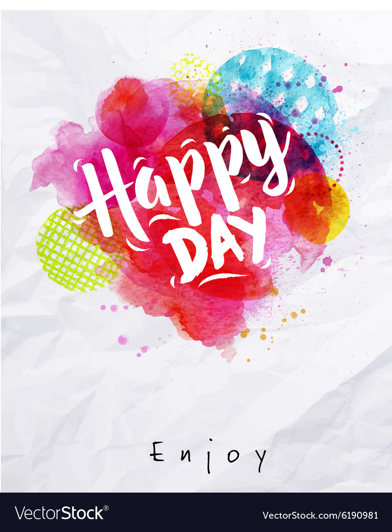 Watercolor poster happy day