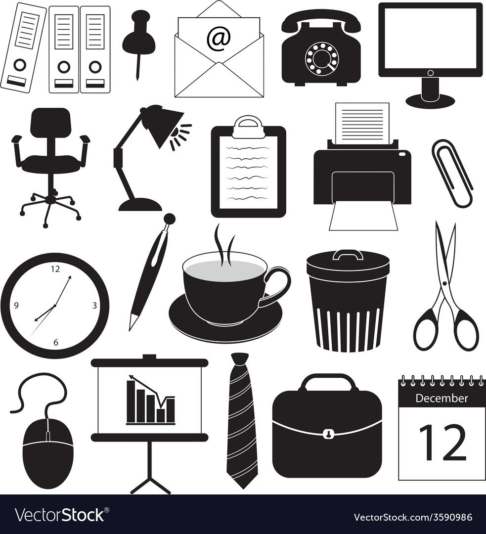 Business and Office Organization Icons