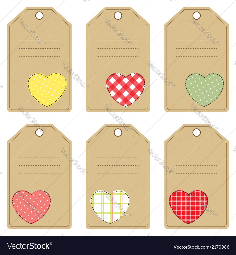 Gift tags with hearts