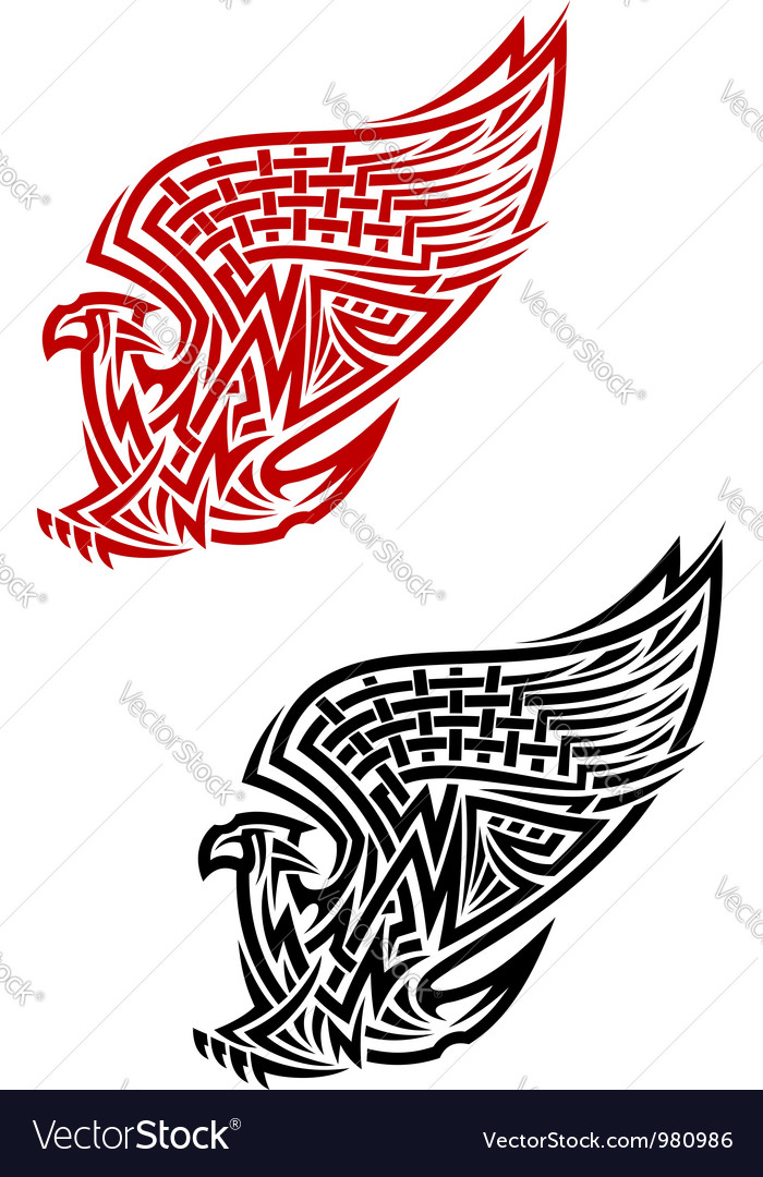 Griffin Symbol In Celtic Style Royalty Free Vector Image