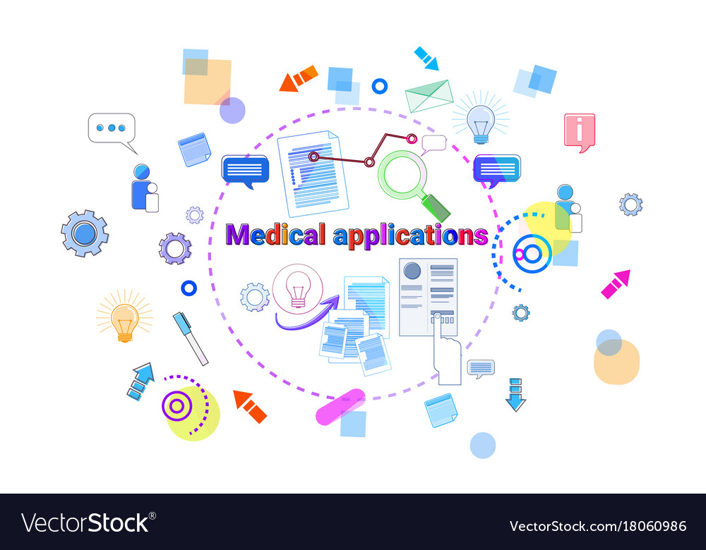 Healthcare Mobile App Banner Online Medical Vector Image