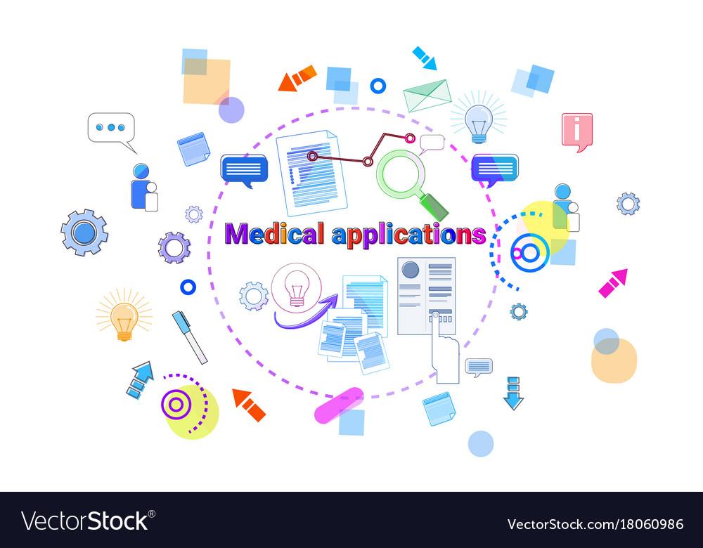 Healthcare Mobile App Banner Online Medical Vector Image