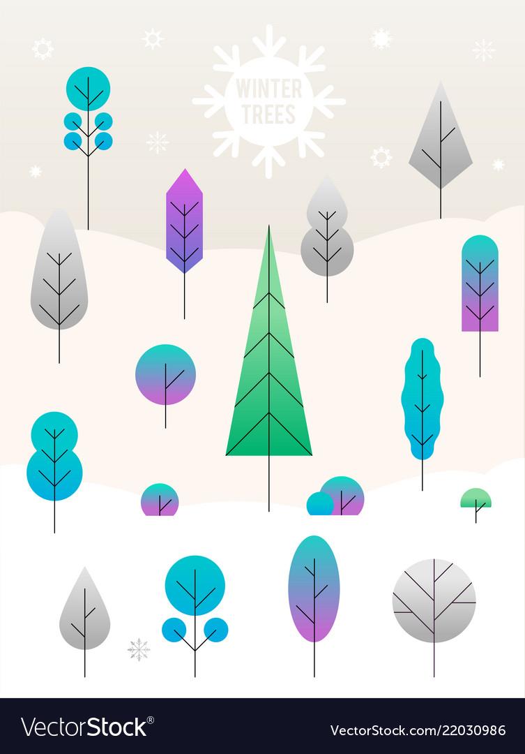 Merry christmas landscape concept