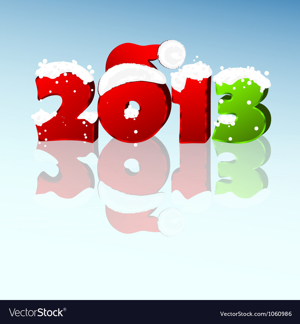 New year 2013 vector image