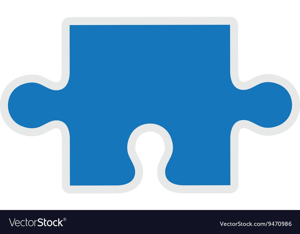 Puzzle piece icon game design graphic