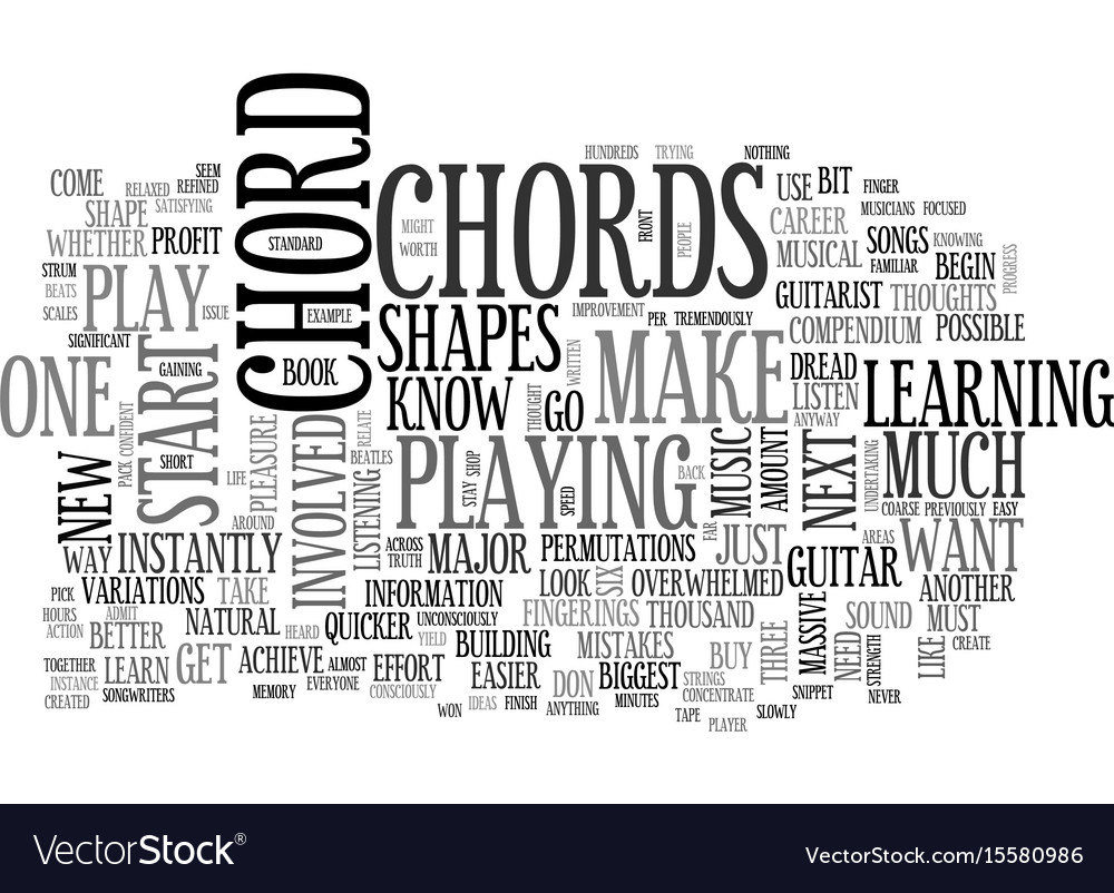 What You Should Know About Beginner Guitar Chords Vector Image