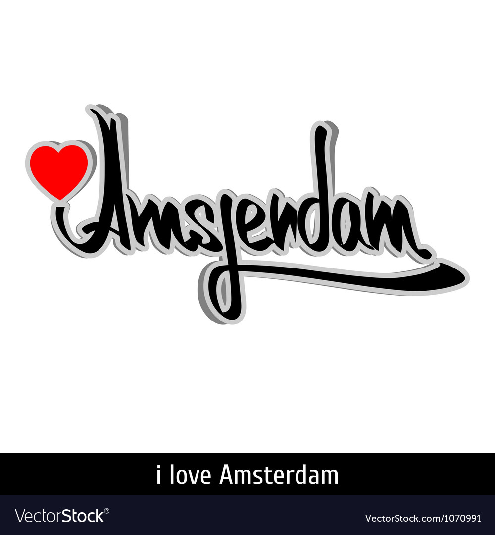 Amsterdam greetings hand lettering Calligraphy