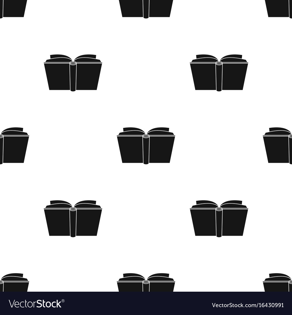 Blue opened book icon in black style isolated on