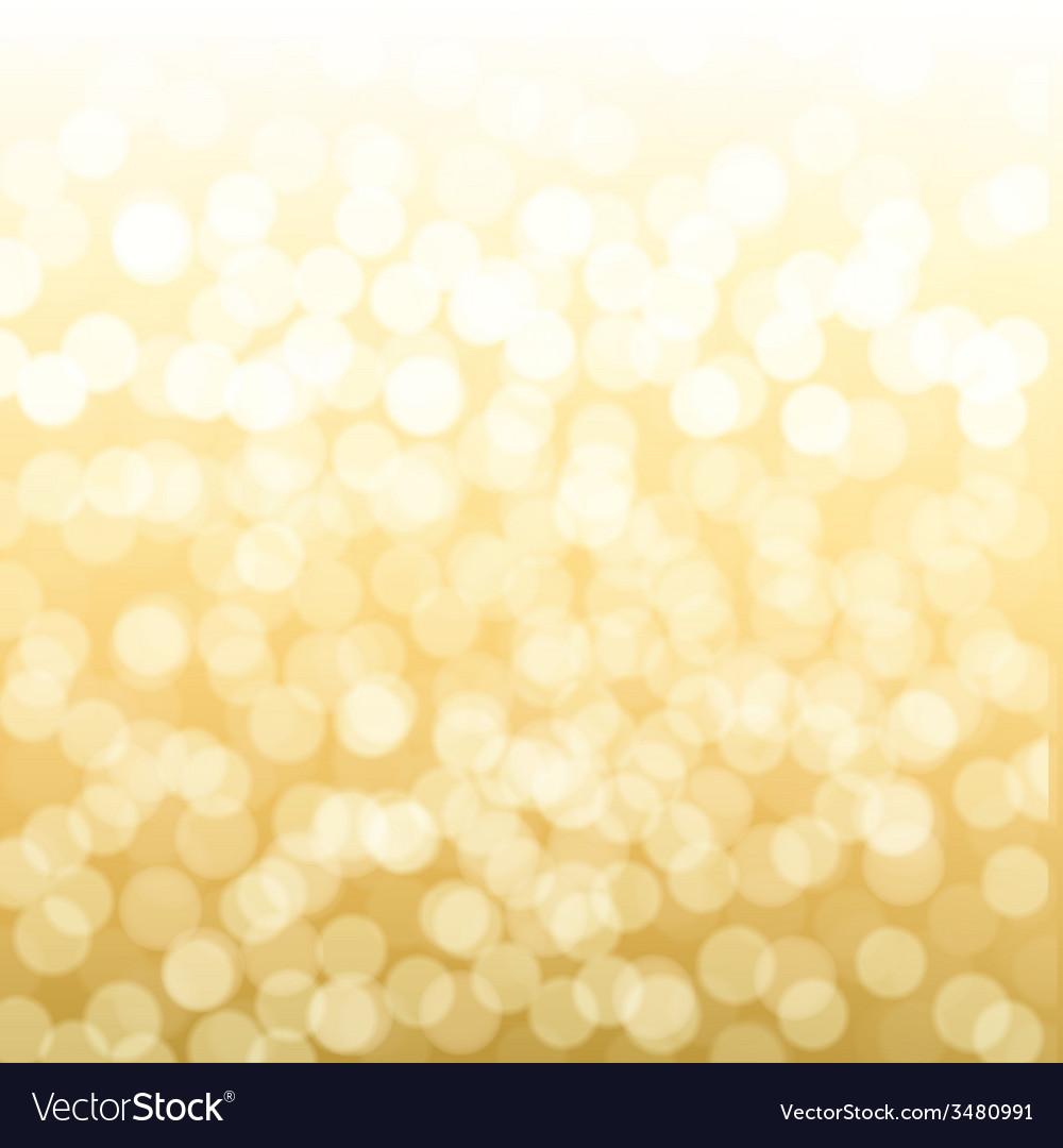 Blurred Gold Background vector image