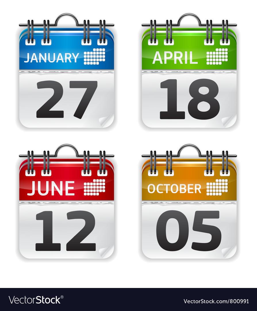 Calendar set vector image