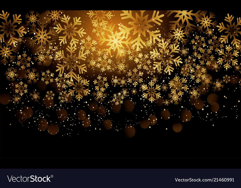 Elegant Christmas Background: Elegant Christmas Background With Shining Gold Vector Image