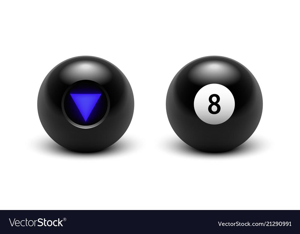 Magic 8 ball set eight