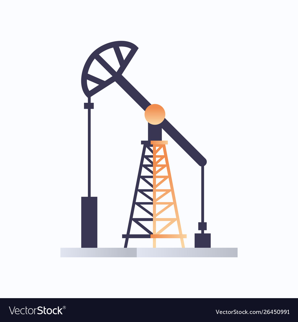 Oil pump icon oil industry equipment fossil fuels