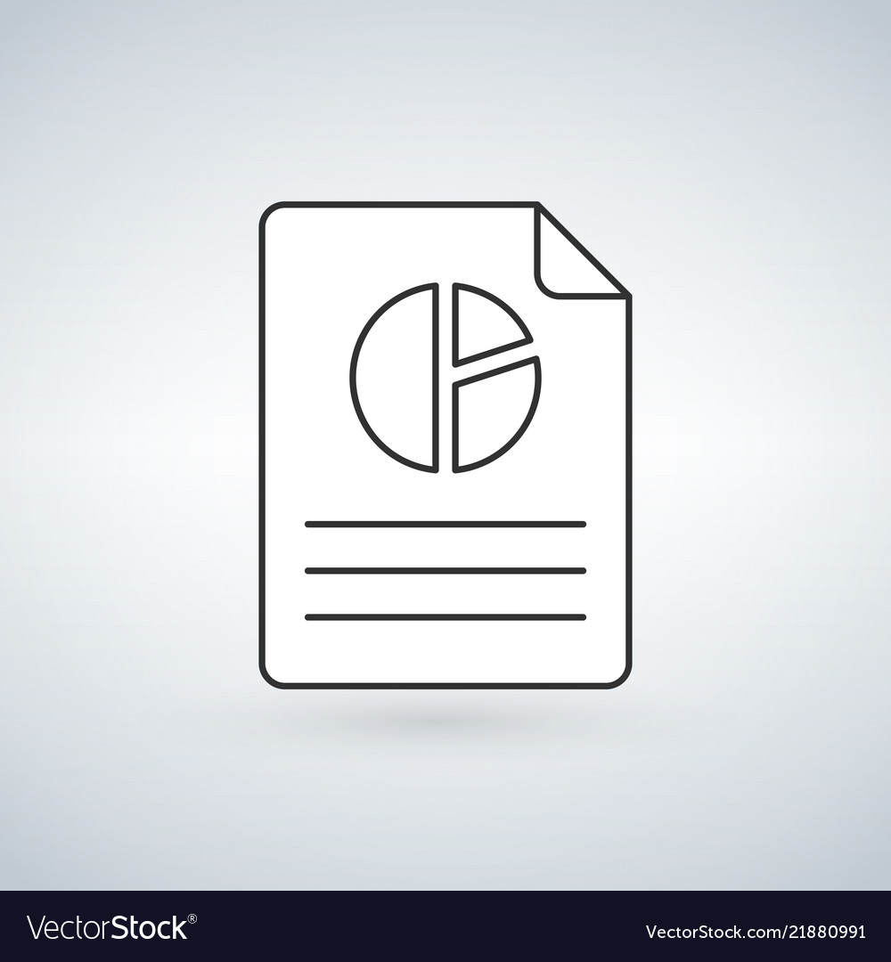 Pie linear chart document icon line sign linear