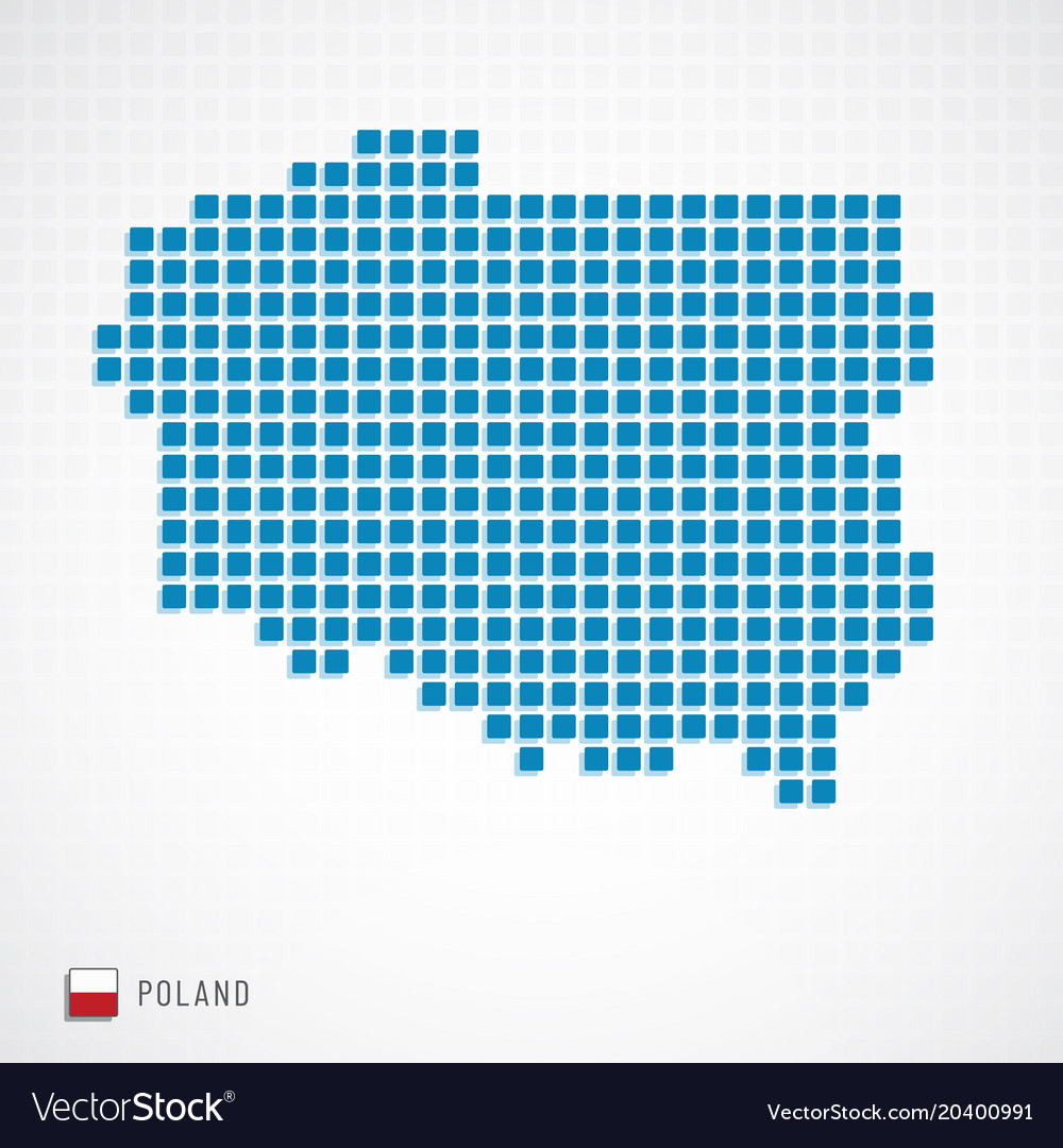Poland map and flag icon Royalty Free Vector Image