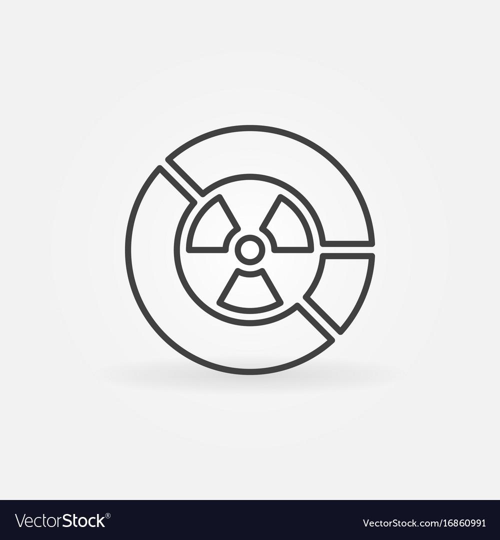 radiation diagram icon royalty free vector image Diagram Hades radiation diagram icon vector image