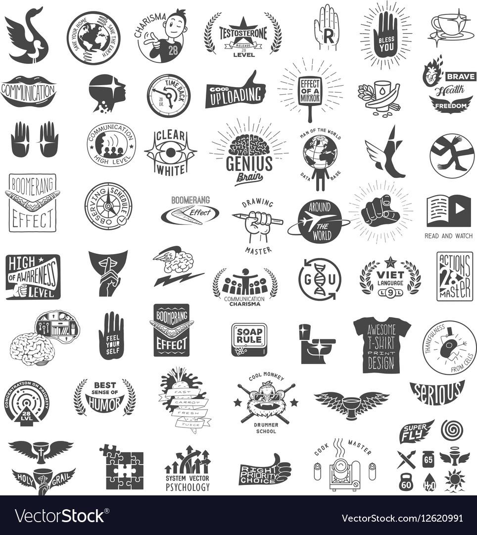 Set vintage logos