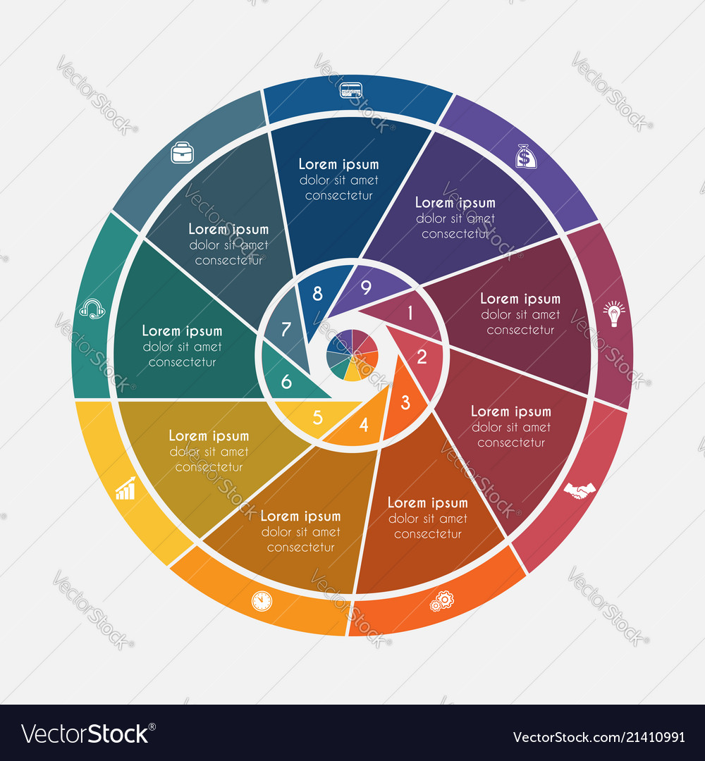 Universal flat template elements infographics