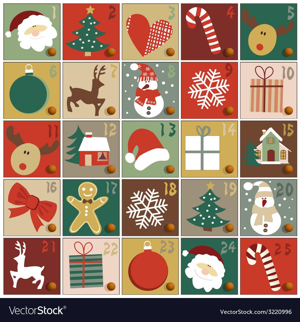 advent calendar royalty free vector image vectorstock