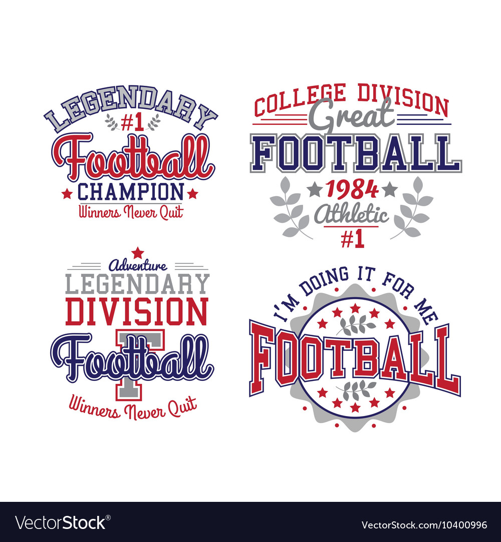 American football badges